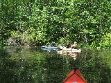 Kay Linda and Nick on Smiths Creek, Chesapeake (Kayak Virginia Beach Images © Paul Perusse)