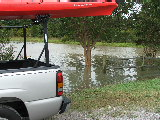 Water in the parking lot at Lotus Pond Park (Kayak Virginia Beach Images © Paul Perusse)