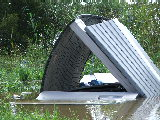 Flipped over shed (Kayak Virginia Beach Images © Paul Perusse)