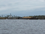 Sand and gravel Barge (Kayak Virginia Beach Images © Paul Perusse)